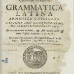 Grammatica latina, sommario