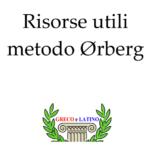 Risorse utili metodo Ørberg