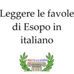 Leggere le favole di Esopo in italiano