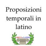 Le proposizioni temporali in latino