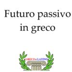Futuro passivo in greco