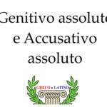 Genitivo assoluto e Accusativo assoluto